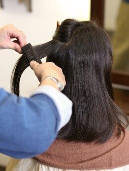 ヘアーアトリエ ヨネカ(hair atelier YONEca)の写真/気になるクセ、嫌なうねりを美髪ストレートへ!他のサロンで改善されなかった方に是非試して頂きたい…!!