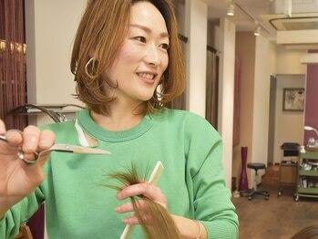 """メリッサ ヘアーアンドスパ(melissa hair&spa)の写真/カウンセリング重視!【口コミ大好評】女性スタイリストがマンツーマンであなたの""""なりた い""""を叶えます☆"""