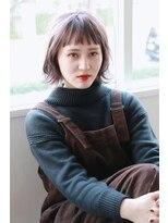 リリィ ヘアデザイン(LiLy hair design)LiLy ラベンダーアッシュ 外ハネstyle