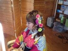 ブブグラスヘアーの雰囲気(先日の卒業式のお客様です。素敵ですね!)