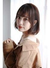 エアーオオサカ(air-OSAKA)☆air-OSAKA☆栃本優美☆やわらか耳かけボブ☆アッシュブラウン
