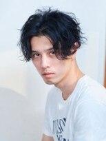 オーブ ヘアー ニコラ 大橋店(AUBE HAIR nicola)【AUBE HAIR】センターパート×パーマ