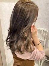 ディーヴァヘアーエズ(DIVA hair Eze)【DIVAhairEze】イヤリングカラー×オリーブグレージュ