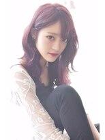 ヘアーサロン エール 原宿(hair salon ailes)(ailes原宿)style267 ワインレッド☆デザインカラー