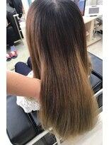 マーメイドヘアー(mermaid hair)プリンを生かしたグラーデーションカラー!