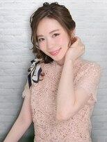 編みおろしスカーフアレンジ☆