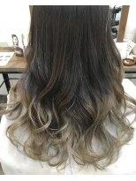 ハロ (Halo hair design)透明感のあるアッシュグラデーション