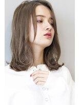 ヘアサロンガリカアオヤマ(hair salon Gallica aoyama)『ブルージュ&似合わせカット』小顔外国人風センターパート☆
