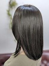 フェリース 蒲田店(Feliz hair design)髪質改善ハリスノフ☆コバルトブルー×ミディ