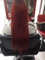 深紅のホットロッドレッドヘア
