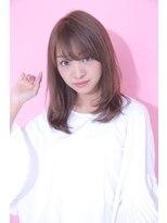 ジーナフクオカ(Zina FUKUOKA)☆Zina☆スタイリング楽チンのセミロングレイヤー