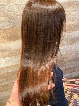 ヒンメリ(HIMMELI)の写真/【早稲田駅1番出口徒歩5分】話題の【酸熱トリートメント】で、ツヤのあるまとまりやすい髪に◎