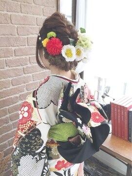 結婚式 和装 髪型 アリス ヘア デザイン Alice Hair DesignAlice☆成人式編みこみアレンジ