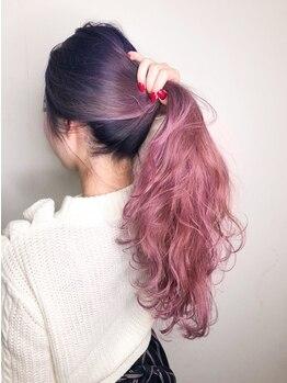 ユニ(Uni)の写真/【カラーならUniにお任せ☆】高彩度で透け感のあるカラーで感動!!まわりと差をつけるデザインで心オドル♪