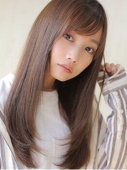 アグ ヘアー リビング札幌店(Agu hair living)の写真/【カット+縮毛矯正¥6900】毛先まで自然なストレートを実現☆これで毎朝のお手入れも簡単に◎