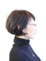 ラトリエコンタン(L´atelier Content)縮毛矯正のショートボブ