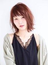 ヘアサロン セロ(Hair Salon SERO)【SERO】シースルーバングと外ハネの無造作スリークボブ
