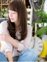 ■bliss戸田公園101★■黒髪x斜めバング☆小顔ストレート