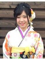 ヘアーアンドメイクサロン ハナココ(hair&make salon hana Coco)成人式 サイドアップ