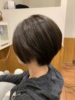 テトラ ヘアー(TETRA hair)ショート×アッシュグレーその2