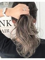 バンクスヘアー(BANK'S HAIR)ペールグレーハイライトバレイヤージュ
