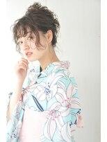 【花火大会】ヘアアレンジ&浴衣着付け¥5720