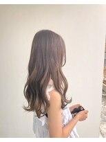 ヘアメイク オブジェ(hair make objet)パープルブラウン ロング