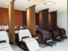 美容室 プカシェル 久我山店の雰囲気(感染対策も徹底しております。各席ごとにパーテーション)
