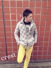 メンズエリアクレスト(Men's area crest)黒髪#ツーブロック#ダンディ#ダークカラー#crest