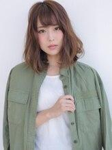 アグ ヘアー ブローチ 岡山イオン前店(Agu hair brooch)☆スクエアシルエットで甘辛ロブ☆