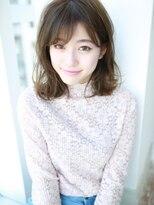 小顔×斜めバング☆モテミディ