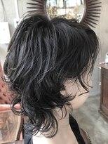 アレーン ヘアデザイン(Alaine hair design)【NAOMI】カーリーウルフ×ブルーブラックカラー