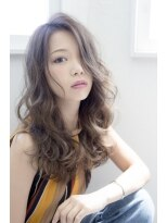 アンネ 心斎橋店(ANNE)透け感ハイライト×セミロング
