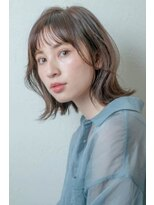 ミンクス 銀座店(MINX)外ハネミディアムウルフ【銀座×30代】