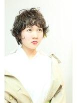 クーヘアードゥエ(COO hair doue)COO  クリープパーマ+オイルカラー(IONA)+デザインカラー