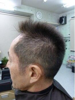 バニーヘアー(Vanny Hair)の写真/髪の短い男性でも長さが2cm以上あればかけられるから、くせ毛で悩むなら縮毛矯正がオススメです。