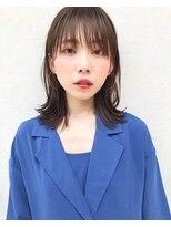 リコ(riko)ぷつっと前髪×外ハネレイヤーボブ♪【荒木洋文】