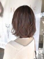 ヘアメイク シュシュ(Hair make chou chou)ヴェールウェーブボブベージュ【chou-chou 北林夏実】