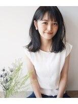 透ける黒髪 ゆるはねミディ【toto・:・tokiイクシマチヒロ】