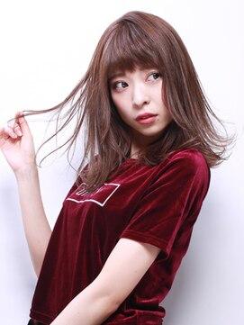 ブラン(Blanc)☆大人女性オススメ☆マロンブラウン×外ハネミディアム
