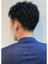 リップスヘアー 銀座(LIPPS hair)ジェントルブラスト オールバック イメチェン ツーブロ
