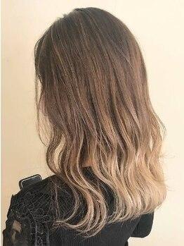 ヘアメイク バレッタ(HAIRMAKE VALETTA)の写真/【北久米駅すぐ】一人ひとりに似合う綺麗な髪色を創るデザイン力。この上ない透明感と柔らかな質感を♪