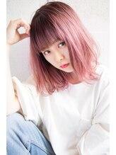 エイト ヘアサロン 渋谷本店(EIGHT)【EIGHT new hair style】オルチャンピンク×ソフトボブ
