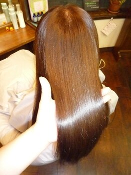 ヘアーサロン ノルテ(Hair Salon NORTE)の写真/髪の芯から『ちゅるん』と潤う。どうしようもないダメージ毛に、NORTEの【超音波イオン生トリートメント】