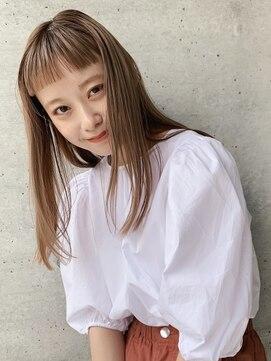 ヘアサロン ガリカ 表参道(hair salon Gallica)外国人風 / ナチュラルストレート /オン眉