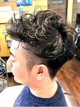 ヘアールーム ラバ(Hair room LABA)の写真/【土浦駅/車で5分】今!お洒落さん達で話題のバーバースタイルのフェードもお任せ下さい!