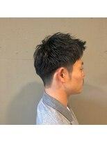 アルマヘアー(Alma hair by murasaki)アップバングで爽やか刈り上げスタイル