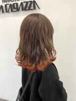 ラガッツァ(La ragazza)裾カラーオレンジ