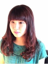 ヘアーカーブ(haircarve)秋★haircarveプラムカラー★ドーリーバングロング