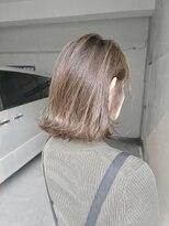 【Marl】白髪染めで作るミルクティーベージュ×外ハネボブ